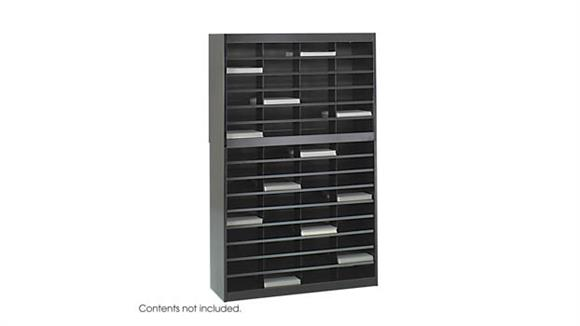 Magazine & Literature Storage Safco Office Furniture Steel 60 Compartment Letter Size Literature Organizer