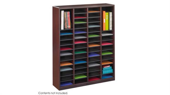 Magazine & Literature Storage Safco Office Furniture 60 Compartment Literature Organizer
