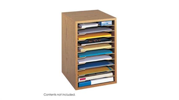 Desk Organizers Safco Office Furniture Vertical Desk Top Sorter - 11 Compartment