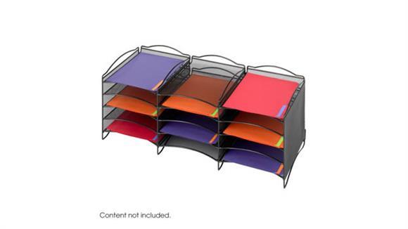 Desk Organizers Safco Office Furniture Onyx™ 12 Compartment Mesh Literature Organizer