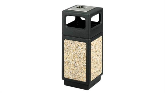 Waste Baskets Safco Office Furniture 15 Gallon Ash Urn/Side Open Waste Receptacle