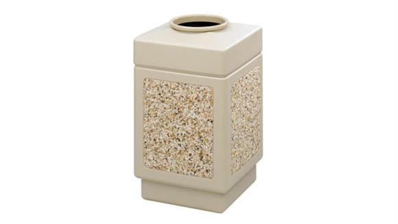 Waste Baskets Safco Office Furniture Canmeleon™ Aggregate Panel, Top Open, 38 Gallon