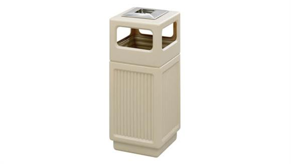 Waste Baskets Safco Office Furniture Canmeleon™ Recessed Panel, Ash Urn, Side Open, 15 Gallon