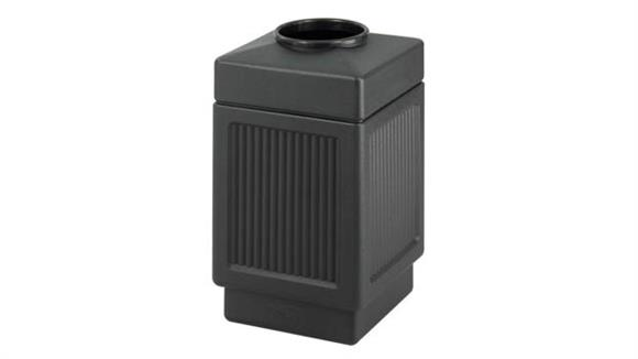 Waste Baskets Safco Office Furniture Recessed Panel, Top Open, 38 Gallon Receptacle