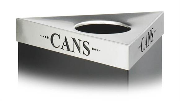 "Waste Baskets Safco Office Furniture ""Cans"" Recycling Receptacle Lid"