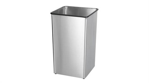 Waste Baskets Safco Office Furniture Stainless Steel 36-Gallon Receptacle Base