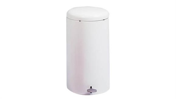 Waste Baskets Safco Office Furniture Round Step-On Receptacle, 7 Gallon