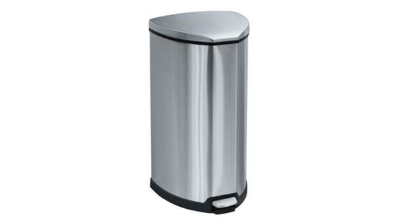 Waste Baskets Safco Office Furniture Stainless Step-On 10 Gallon Receptacle