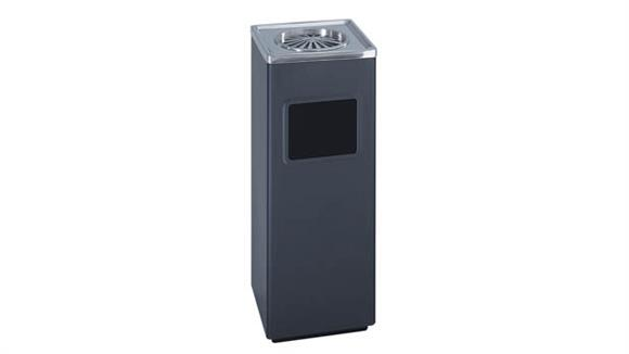 Waste Baskets Safco Office Furniture Square Ash and Trash Receptacle
