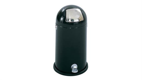 Waste Baskets Safco Office Furniture Dome Step-On Receptacle, 9-Gallon