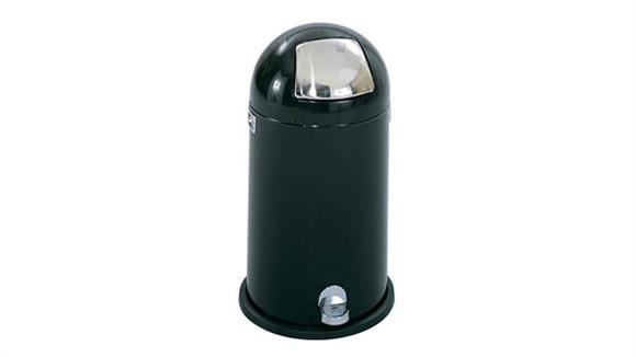 Waste Baskets Safco Office Furniture Dome Step-On Receptacle, 12-Gallon
