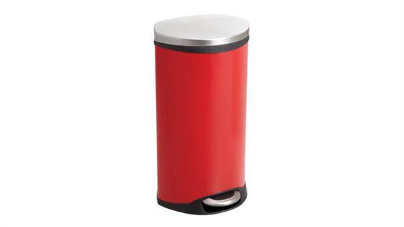 Waste Baskets Safco Office Furniture Ellipse Step-On - 7.5 Gallon Receptacle