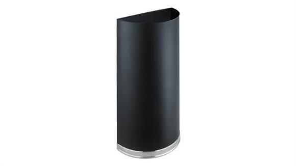 Waste Baskets Safco Office Furniture Half Round Receptacle - 12.5 Gallon