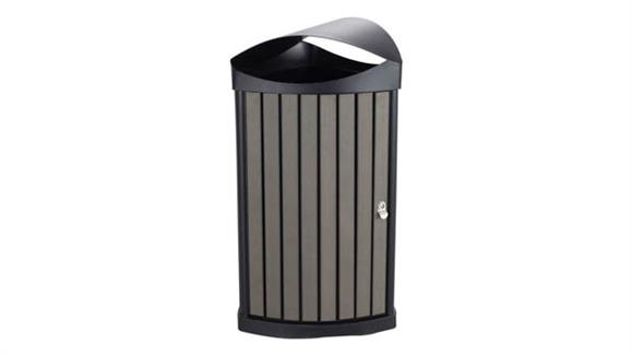 Waste Baskets Safco Office Furniture Nook™ Indoor/Outdoor Waste Receptacle