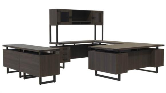 U Shaped Desks Safco Office Furniture Typicals U-Shaped Desk Set