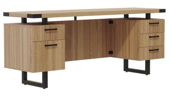 "Office Credenzas Safco Office Furniture 72""W x 20""D Credenza, BBB/BF Pedestals"