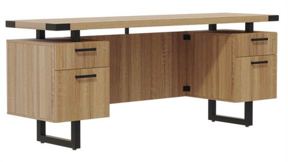 "Office Credenzas Safco Office Furniture 72""W x 20""D Credenza, BF/BF Pedestals"