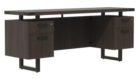 "Office Credenzas Safco Office Furniture 66""W x 20""D Credenza, BF/BF Pedestals"