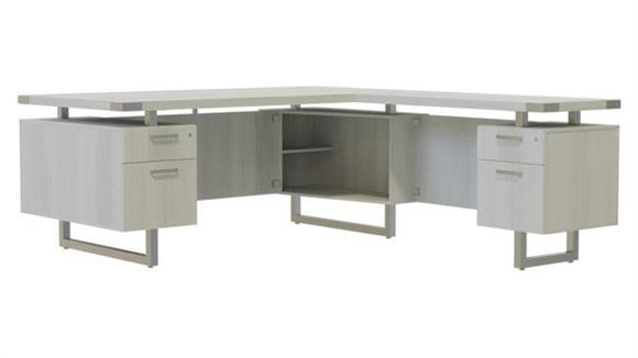 """L Shaped Desks Safco Office Furniture 72""""W x 84""""D L-Shaped Desk, BF/BF Pedestals"""