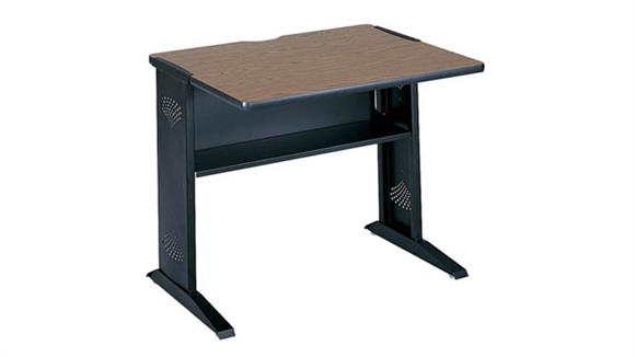 """Computer Tables Safco Office Furniture 36""""W Reversible Top Computer Desk"""