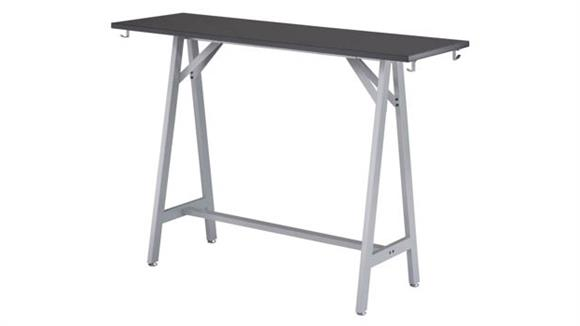 """Standing Height Desks Safco Office Furniture 60""""W Standing-Height Teaming Table"""