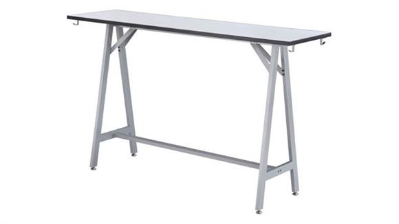 """Standing Height Desks Safco Office Furniture 72""""W Standing-Height Teaming Table"""