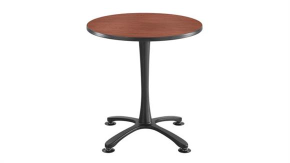 """Cafeteria Tables Safco Office Furniture 30"""" Round, X Base Sitting Height"""
