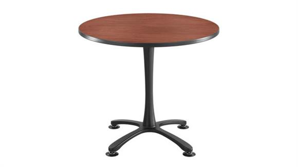 """Cafeteria Tables Safco Office Furniture 36"""" Round, X Base Sitting Height"""