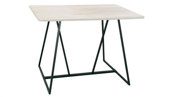 """Training Tables Safco Office Furniture Oasis 60"""" Standing-Height Teaming Table"""
