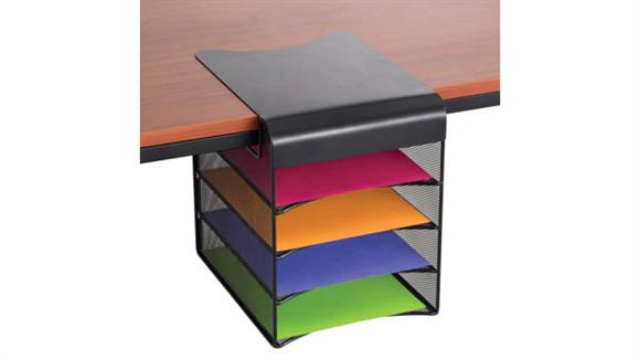 Desk Organizers Safco Office Furniture Onyx™ Solid Top Horizontal Hanging Storage