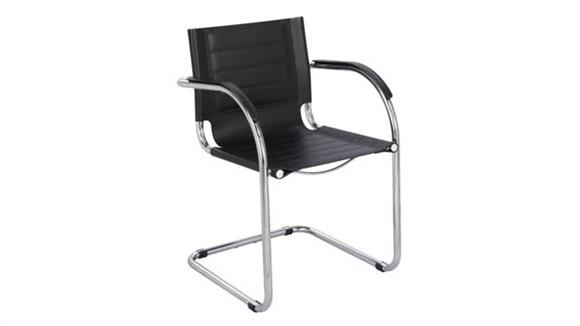 Side & Guest Chairs Safco Office Furniture Guest Chair Black Leather