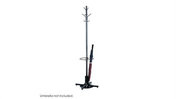 Coat Racks & Hall Trees Safco Office Furniture Coat Rack with Umbrella Stand