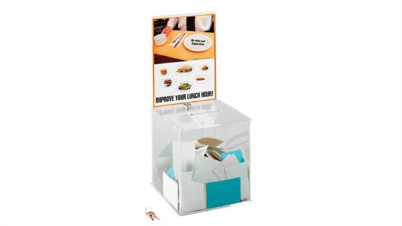 Office Organizers Safco Office Furniture Large Acrylic Collection Boxes