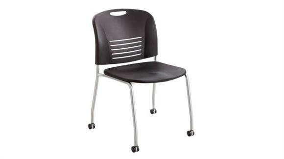 Stacking Chairs Safco Office Furniture Vy™ Straight Leg w/ Caster (Qty. 2)