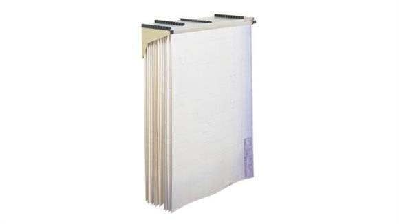 Magazine & Literature Storage Safco Office Furniture Drop/Lift Wall Rack