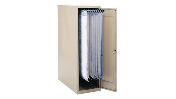 "File Cabinets Vertical Safco Office Furniture Large Vertical Storage Cabinet for 18"", 24"", 30"" and 36"" Hanging Clamps"