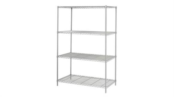 """Shelving Safco Office Furniture Industrial Wire Shelving, 48"""" x 24"""""""