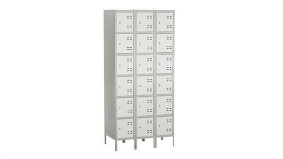 Lockers Safco Office Furniture Bank of 3 Box Lockers