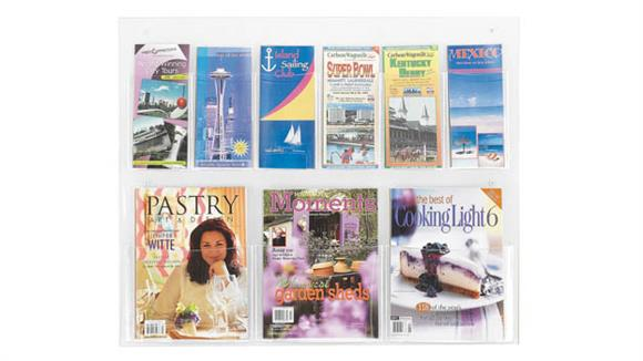 Magazine & Literature Storage Safco Office Furniture 6 Pamphlet and 3 Magazine Display