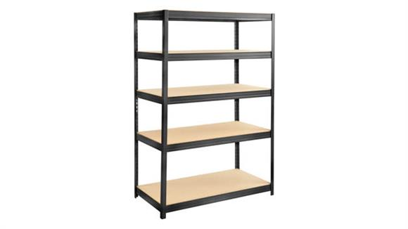 """Shelving Safco Office Furniture Boltless Steel and Particleboard Shelving 48"""" x 24"""""""
