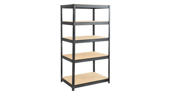 """Shelving Safco Office Furniture Boltless Steel and Particleboard Shelving 36"""" x 24"""""""