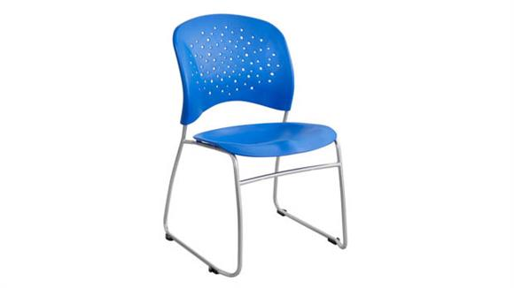 Side & Guest Chairs Safco Office Furniture Guest Chair Sled Base Round Back (Qty. 2)