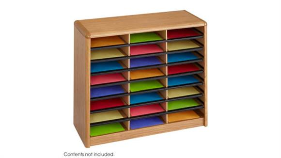 Magazine & Literature Storage Safco Office Furniture 24 Compartment Literature Sorter