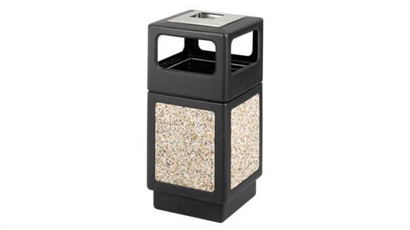 Waste Baskets Safco Office Furniture 38 Gallon Ash Urn/Side Open Waste Receptacle
