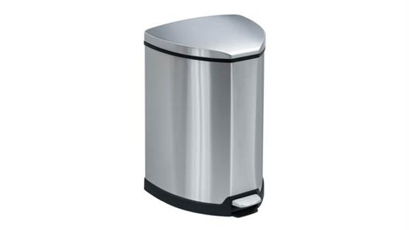 Waste Baskets Safco Office Furniture Stainless Step-On 4 Gallon Receptacle