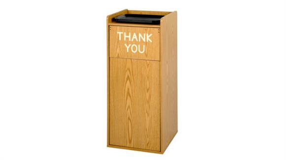 Waste Baskets Safco Office Furniture Wood Tray Top Waste Receptacles