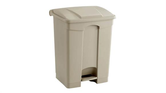 Waste Baskets Safco Office Furniture Plastic Step-On - 17 Gallon Receptacle