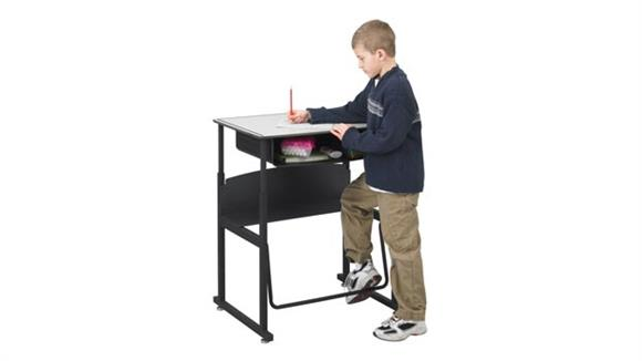 Adjustable Height Desks & Tables Safco Office Furniture Height Adjustable Student Desk with Book Box
