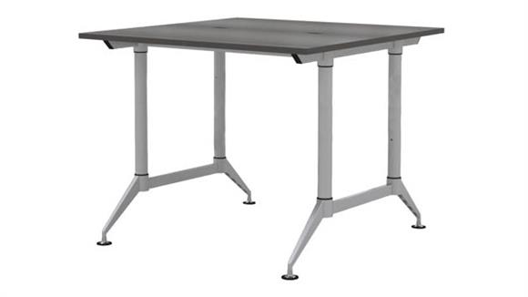 """Standing Height Desks Safco Office Furniture 48"""" 2-Person Standing-Height Workstation"""