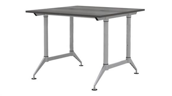 """Standing Height Desks Safco Office Furniture 60"""" 2-Person Standing-Height Workstation"""